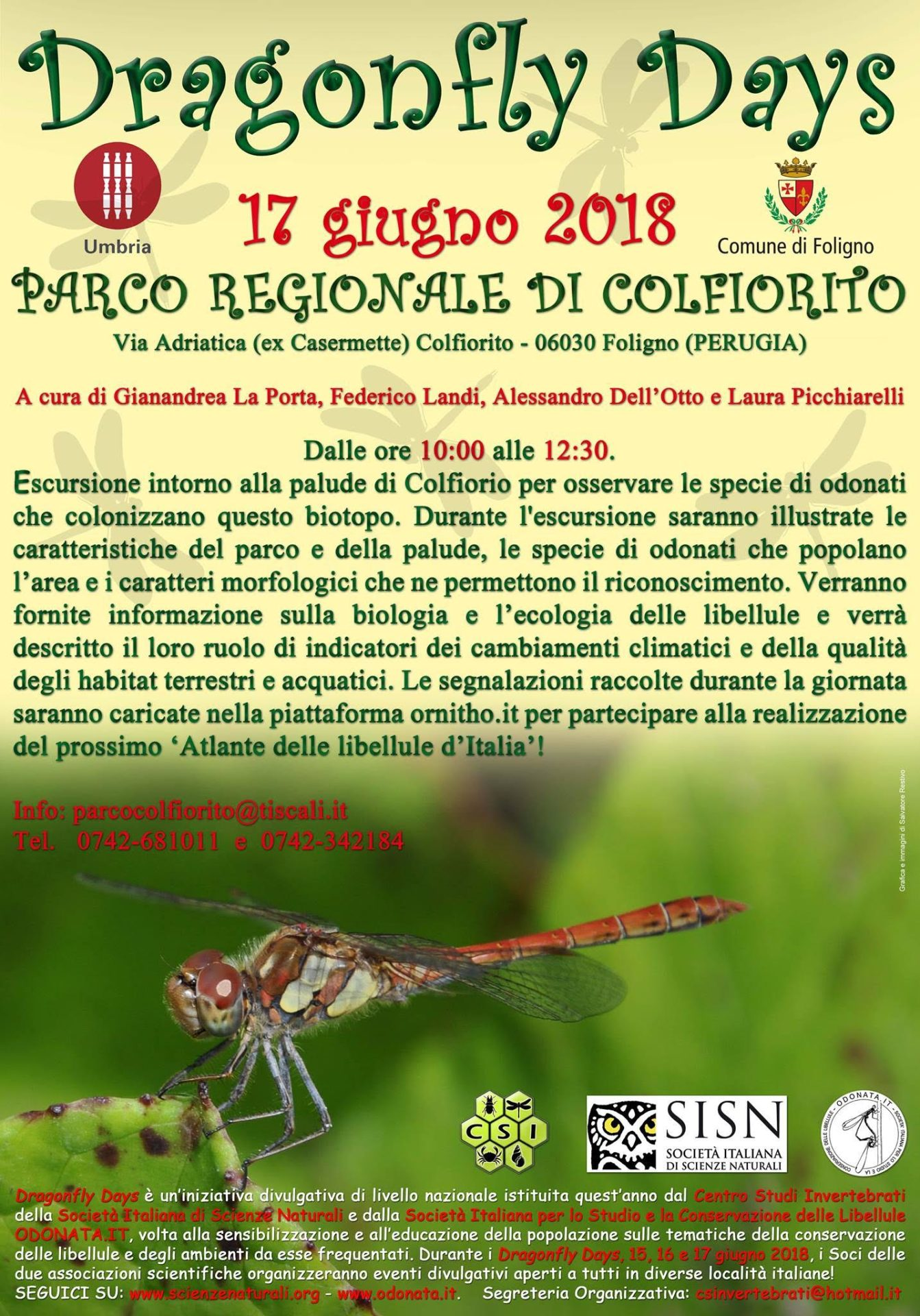 Dragonfly Days, 17 giugno 2018 a Colfiorito