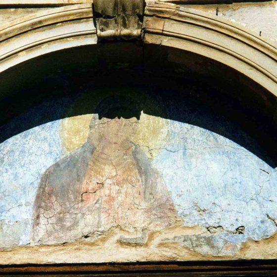 Castel Ritaldi - La Bruna, chiesa della Madonna della Bruna «Madonna del sovrapporta» [CAS015]