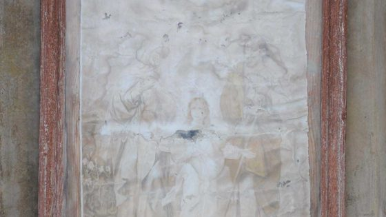 Castel Ritaldi - Castel Ritaldi, ponte sul Ruicciano «Edicola al crocicchio» [CAS021]