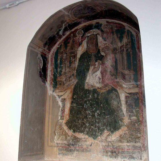 Montefalco - Montefalco, palazzo del Comune «Madonna in Maestà» [MON011]