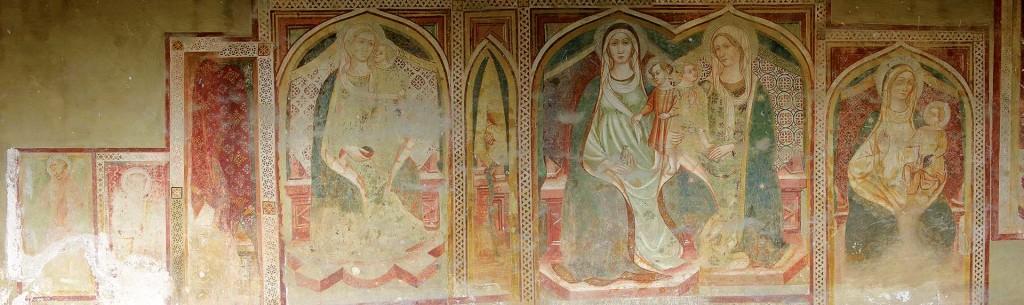 Affreschi della chiesa di Santa Maria Pietrarossa, panoramica