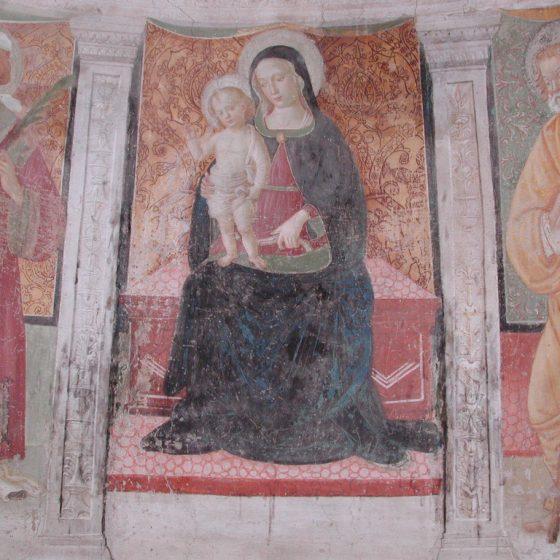 Picciche, chiesa di Santo Stefano, affreschi
