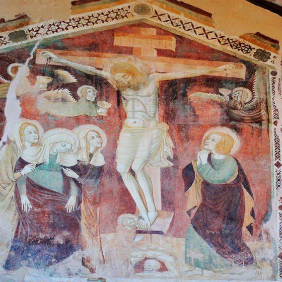 Trevi, resti della chiesa di Santa Caterina (affresco)