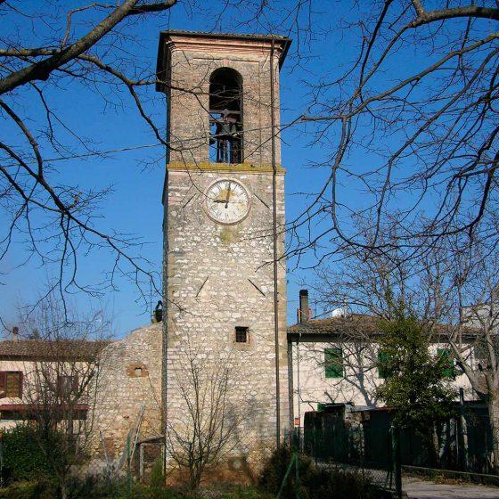 Trevi, San Lorenzo, resti del castello