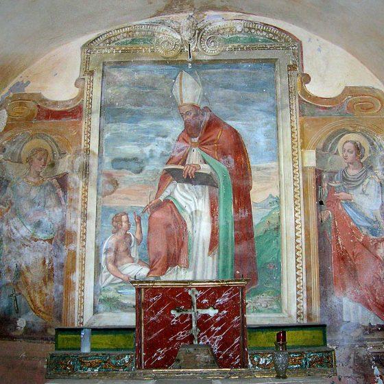 Ponze, chiesa di San Lorenzo, interno