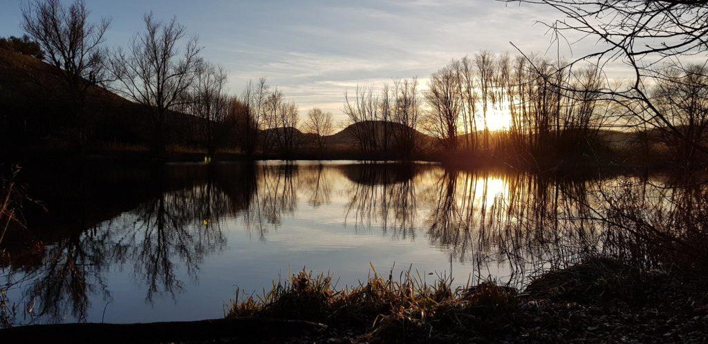 Foligno, la palude di Colfiorito al tramonto