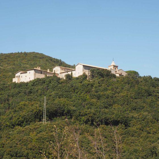 Foligno, abbazia di Sassovivo, panorama