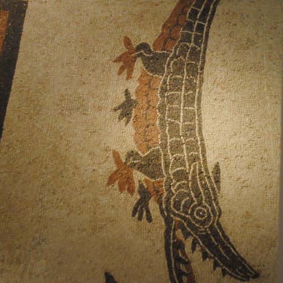 Cannara, Collemancio, Urvinum Hortense, mosaico delle terme, particolare