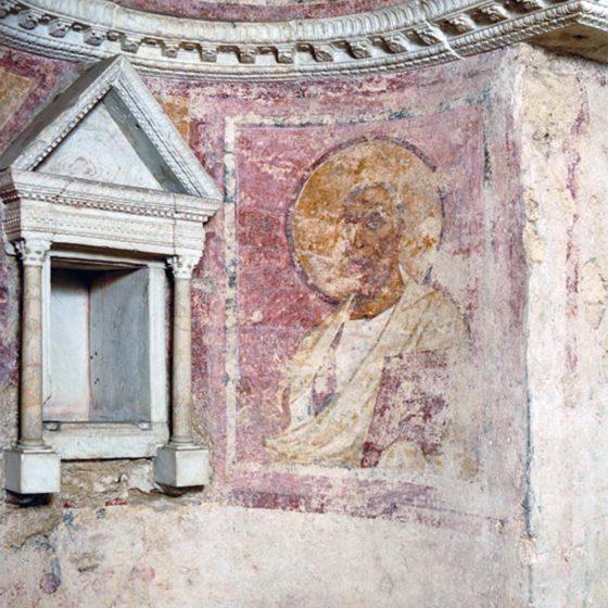 Campello sul Clitunno, Tempietto del Clitunno, interno, particolare