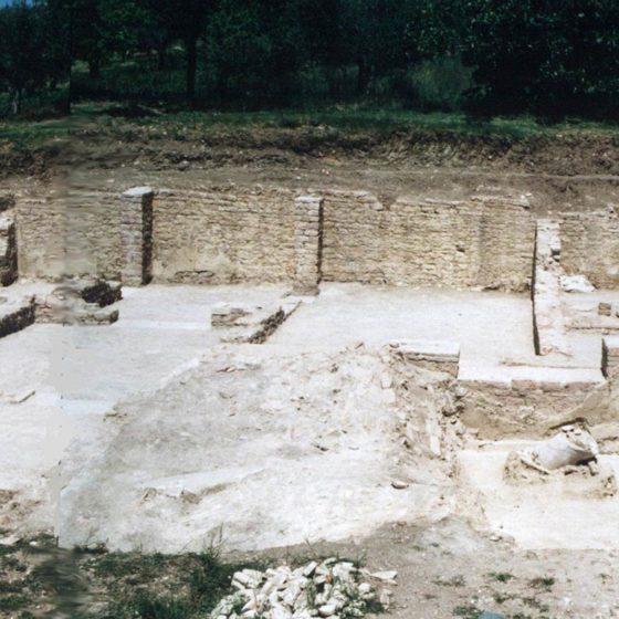 Giano dell'Umbria, Toccioli, Villa di Rufione, scavo anno 2004