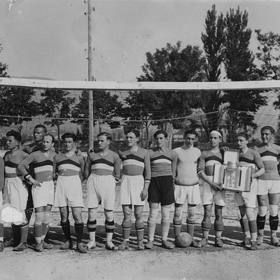 Campo di calcio nel parco dei Canapè, 1926