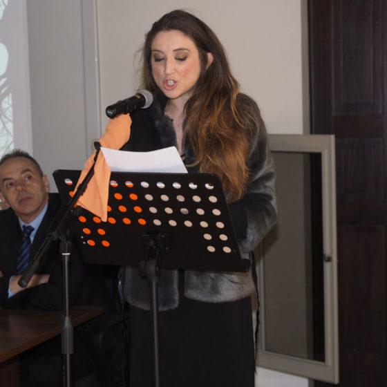 Presentazione di 'Patriarchi verdi. Itinerari in Valle Umbra' – palazzo Mauri, Spoleto, 12 marzo 2016. L'attrice di teatro Diletta Masetti