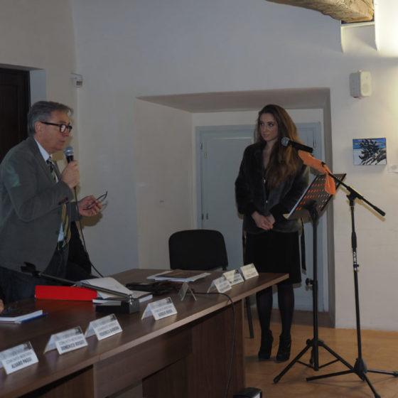 Presentazione di 'Patriarchi verdi. Itinerari in Valle Umbra' – palazzo Mauri, Spoleto, 12 marzo 2016. Il Direttore della Comunità montana, Marco Vinicio Galli, presenta Diletta Masetti
