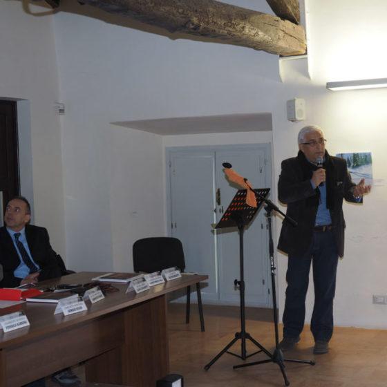 Presentazione di 'Patriarchi verdi. Itinerari in Valle Umbra' – palazzo Mauri, Spoleto, 12 marzo 2016. Alvaro Paggi della Comunità montana dei Monti Martani, Serano e Subasio
