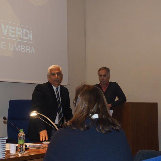 4 maggio 2016, presentazione del volume 'Patriarchi Verdi. Itinerari in Valle Umbra', Foligno, biblioteca Jacobilli (Alvaro Paggi e Danilo Rapastella)