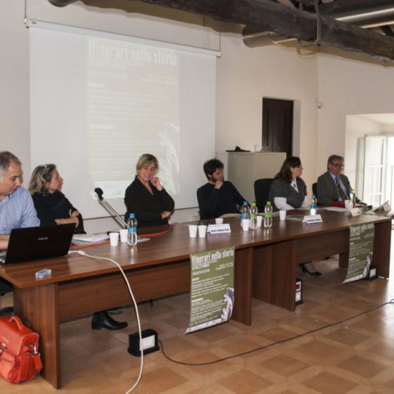 18 aprile 2015. Spoleto, palazzo Mauri. Presentazione 'Itinerari nella storia'.