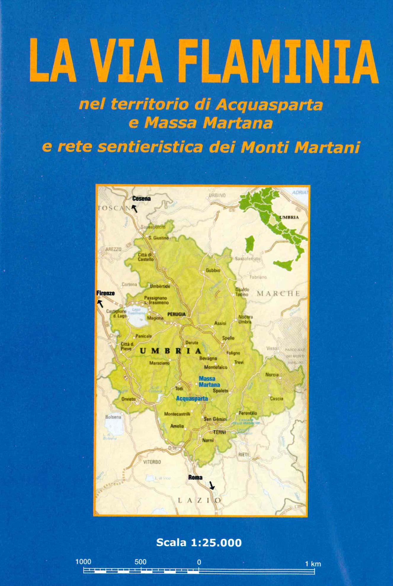 La via Flaminia (frontespizio cartina)