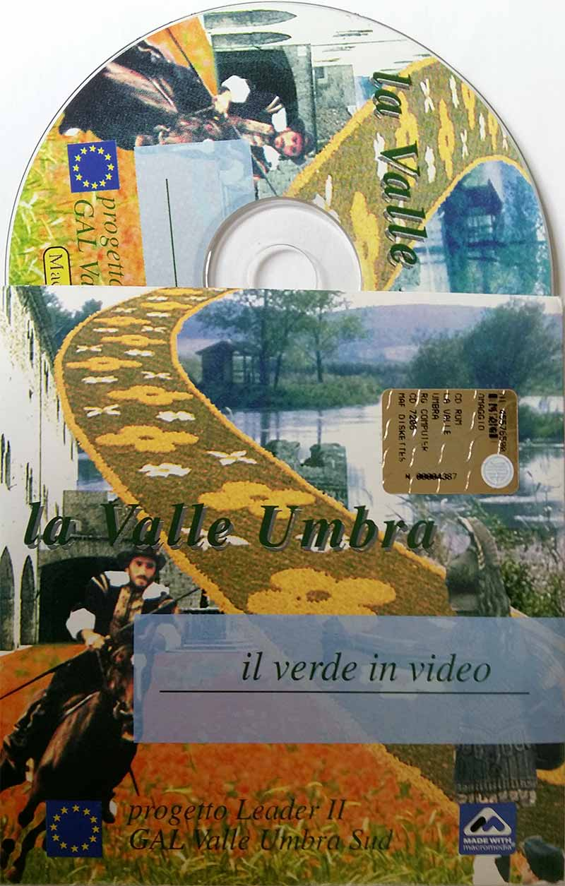 La Valle Umbra, il verde in video (packaging e serigrafia CDRom)