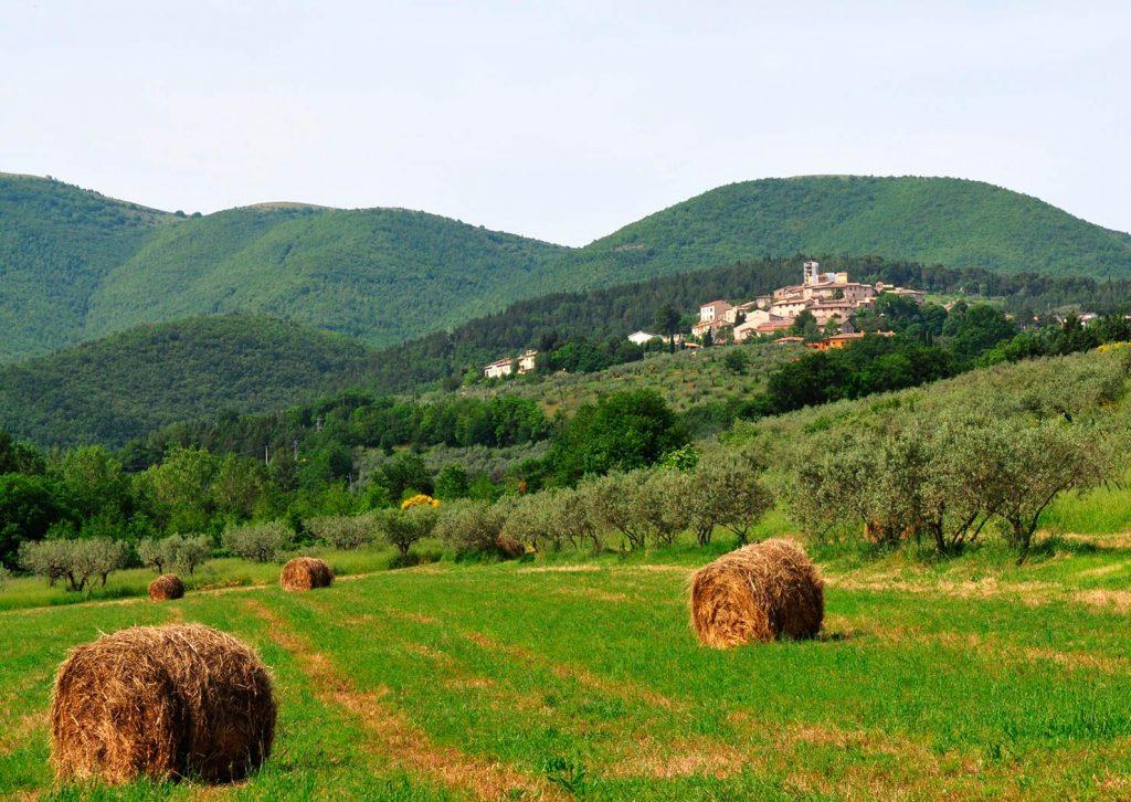 Giano dell'Umbria, panorama - Foto di Massimo Chiappini per il progetto 'Edicole sacre' (Archivio Comunità Montana dei Monti Martani, Serano e Subasio)