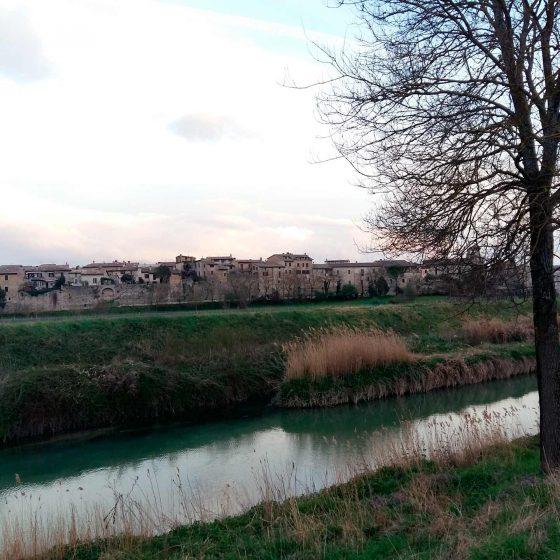 Confluenzatra il fiume Clitunno e il Teverone-Timia a Bevagna