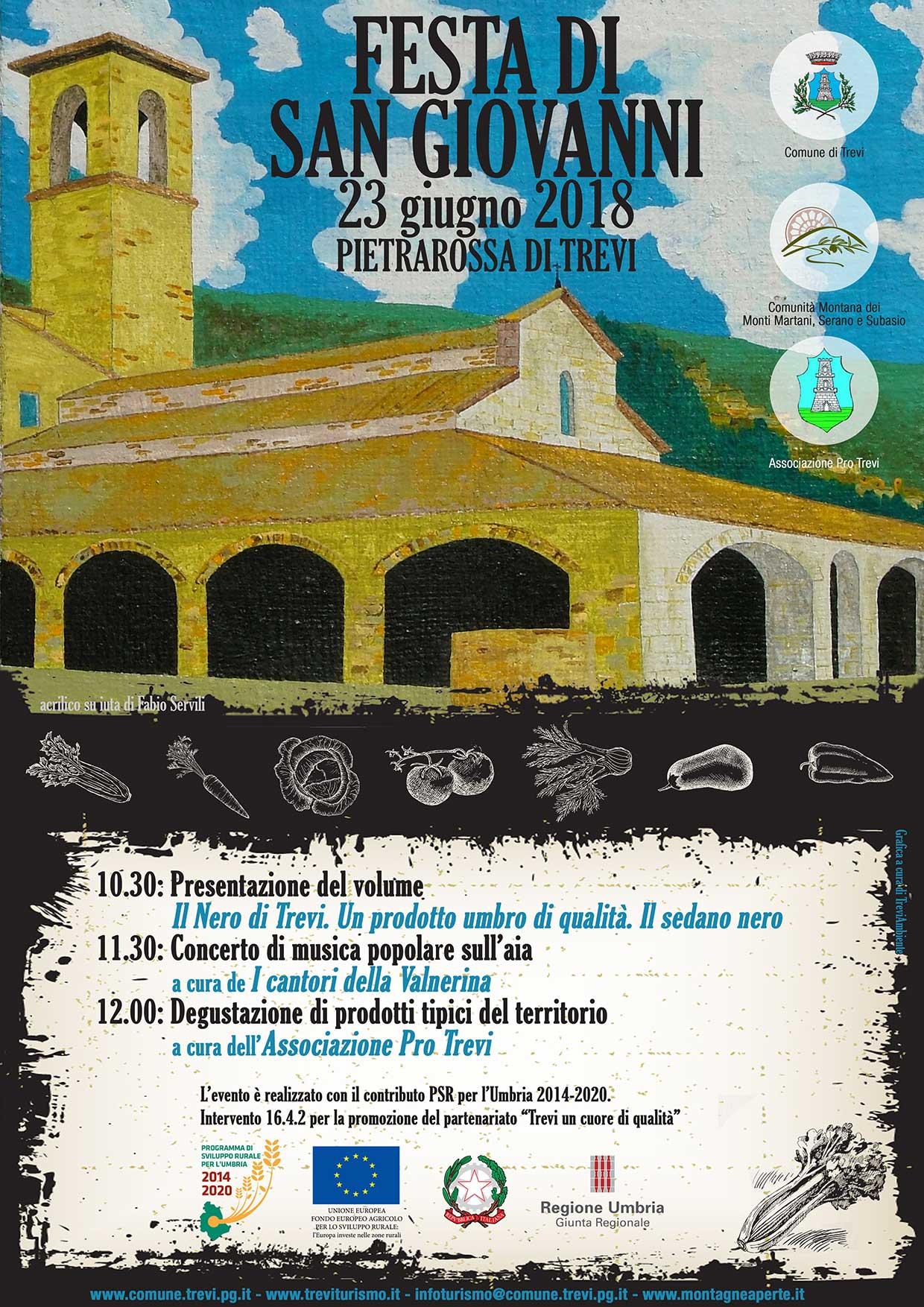 FESTA DI SAN GIOVANNI - PIETRAROSSA - TREVI, 23 GIUGNO 2018