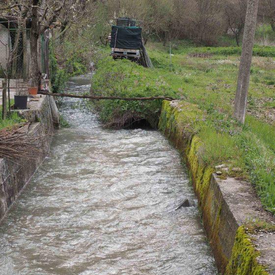 Il primo tratto del fiume Topino a Bagnara di Nocera Umbra