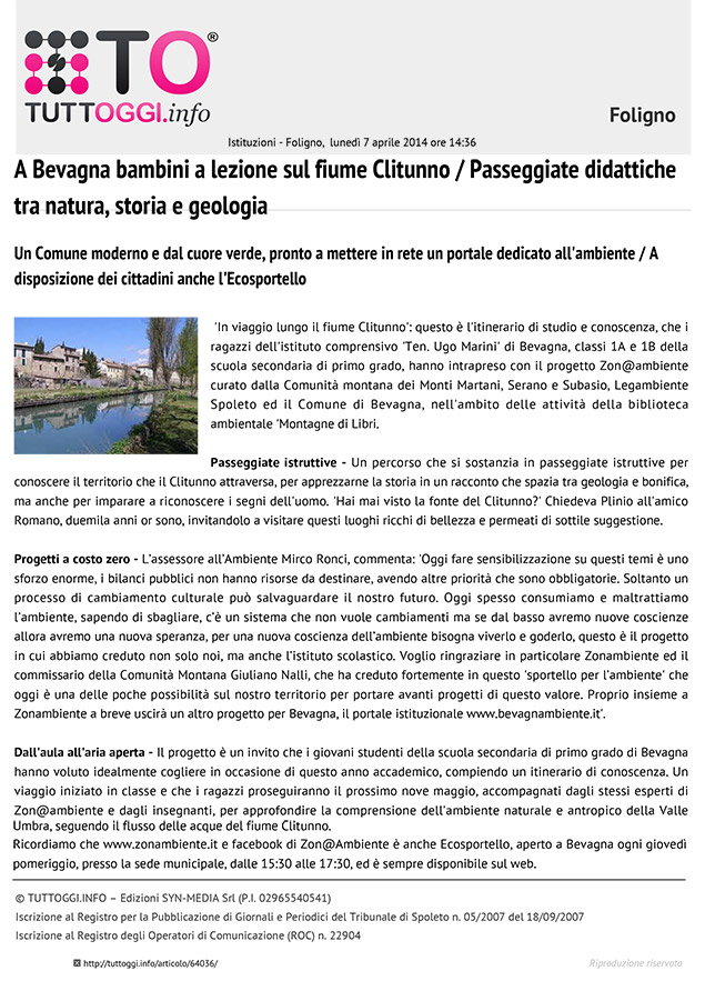 BevagnAmbientee Zonambiente - 07-04-2014 - Tuttoggi.info