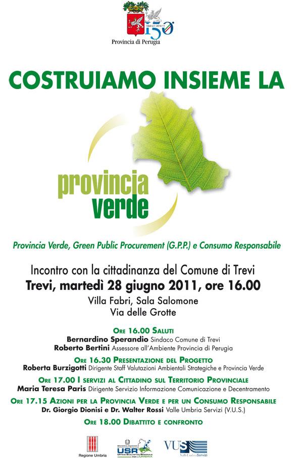 Locandina evento Provincia verde a Trevi