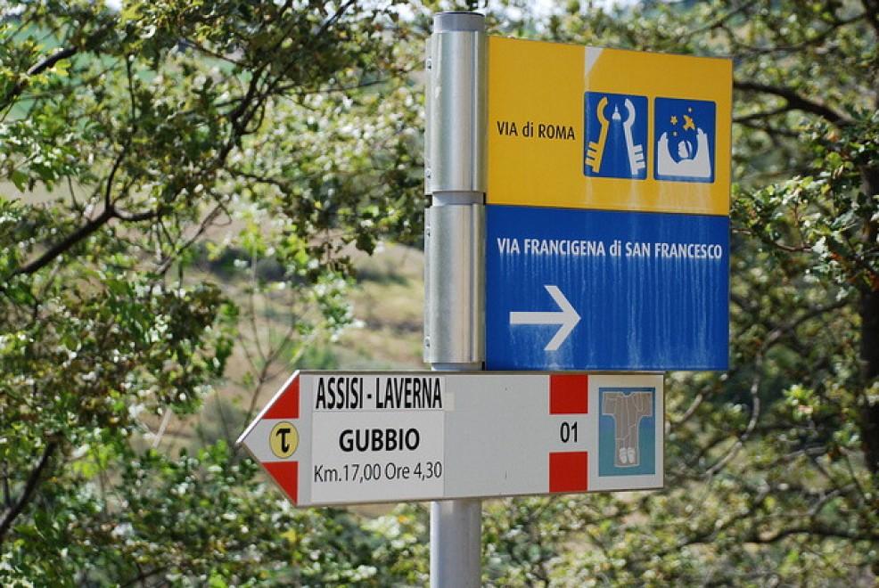 Via di Roma da Assisi a Gubbio