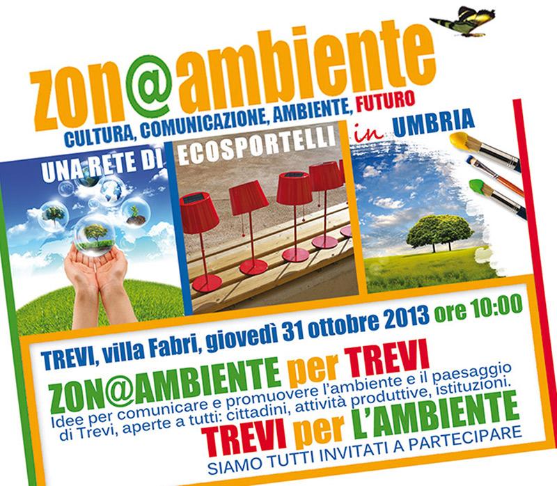 Presentato a Trevi Zon@Ambiente per Trevi - Trevi per l'Ambiente: 31ottobre 2013