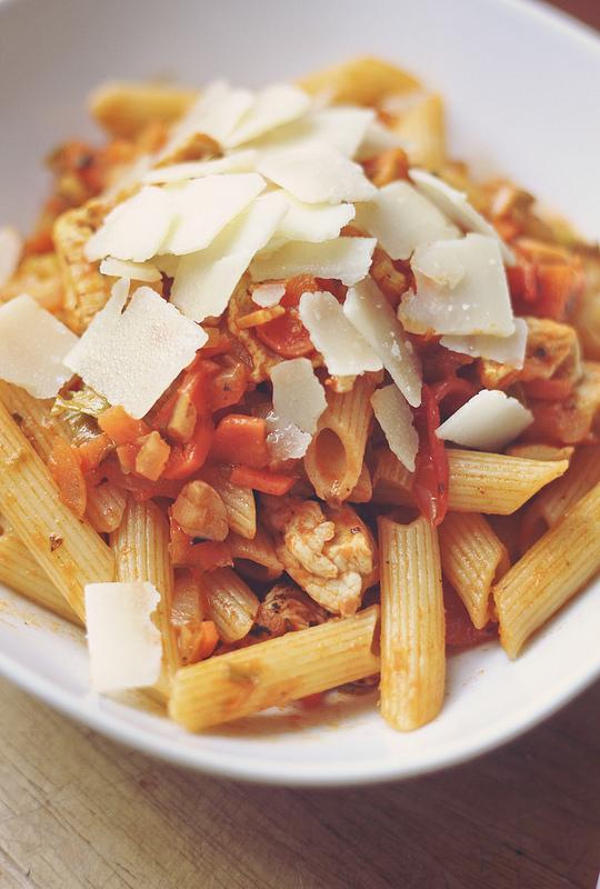 Pasta al pomodoro e parmigiano [photo credit: ais3n via photopin cc]
