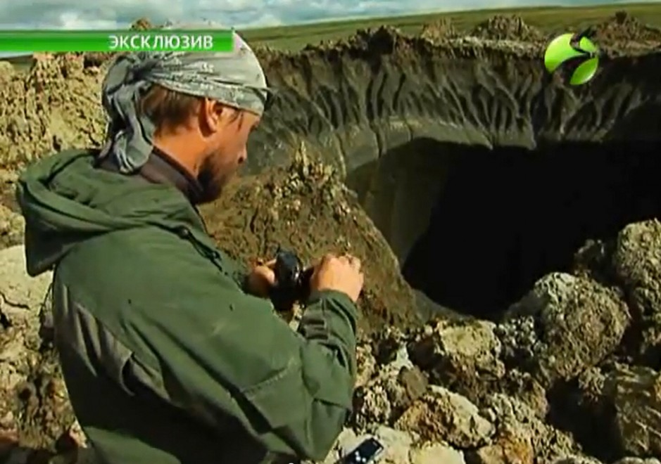 Crateri in Siberia, penisola di Yamal, da www.repubblica.it