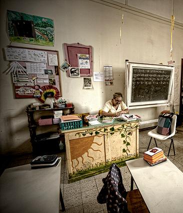 Aula scolastica---photo-PIN [photo credit: imagina (www.giuseppemoscato.com) via photopin cc]