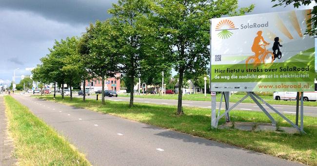 Pista ciclabile fotovoltaica da www.greenstyle.it