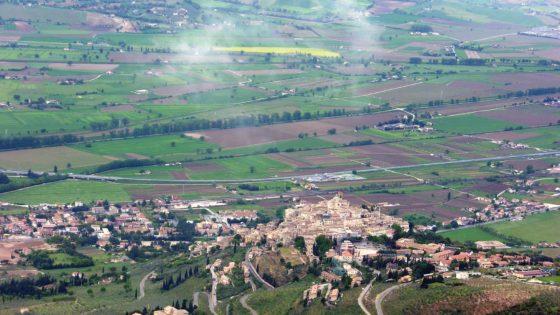 Trevi, vista dall'alto