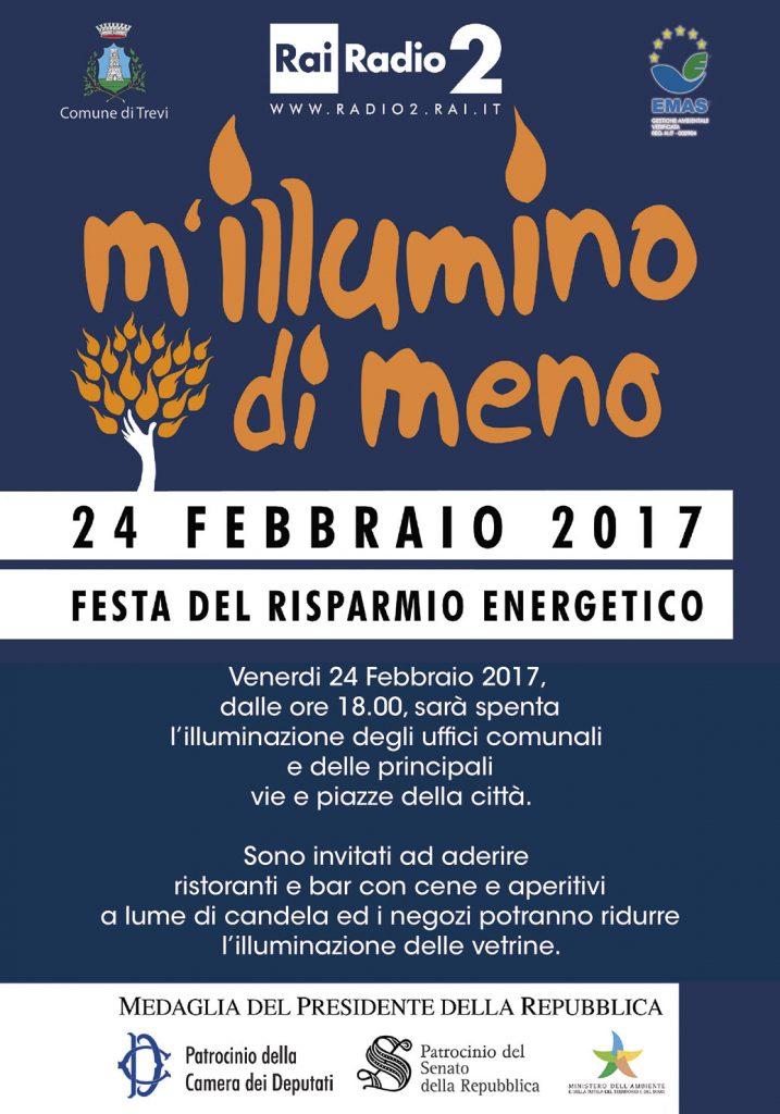 M'illumino di meno, 24 febbraio 2017 a Trevi