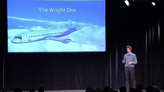 Presentazione aereo elettrico, da www.repubblica.it