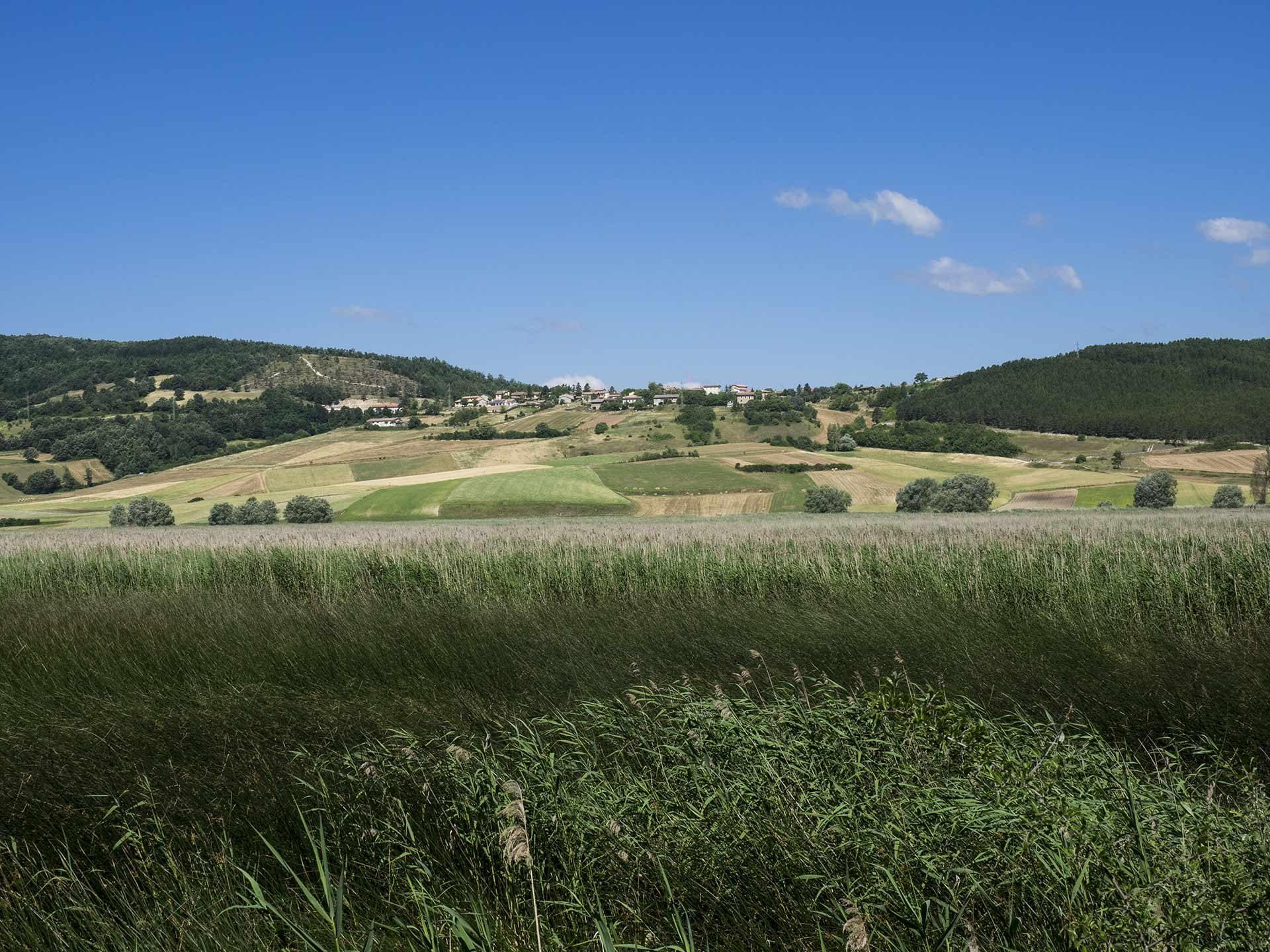 Parco di Colfiorito, il paesaggio, domenica 18 giugno 2017, Festa dei Boschi