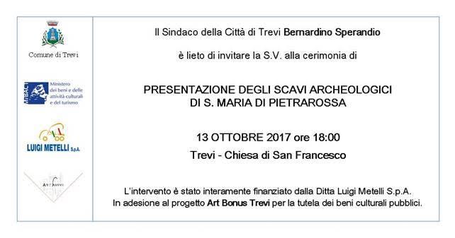 Presentazione degli scavi di S. Maria di Pietrarossa