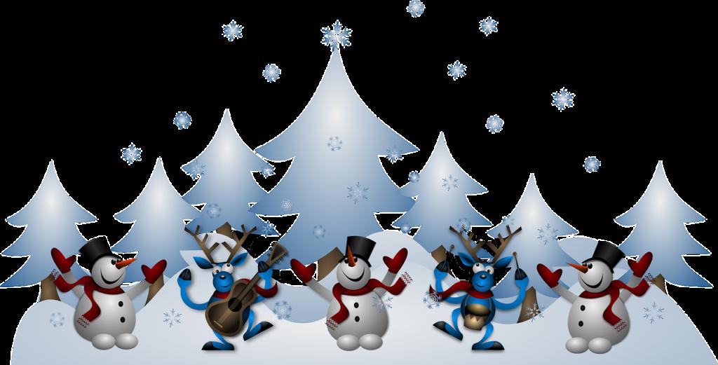Inverno, pupazzi di neve, solstizio d'inverno [OpenClipart-Vectors by Pixabay, CC0 Creative Commons, Libera per usi commerciali, Attribuzione non richiesta]