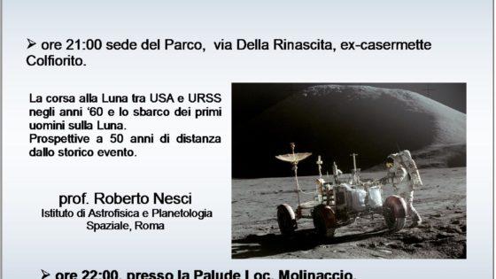 Locandina evento 'Corsa alla Luna' Parco di Colfiorito 5 luglio 2019